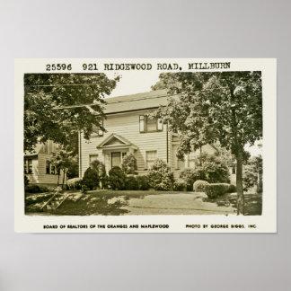 921 Ridgewoodの道Ca. 1952年 ポスター