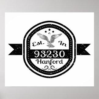 93230 Hanfordに確立される ポスター