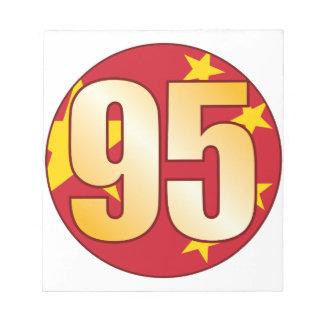 95中国の金ゴールド ノートパッド