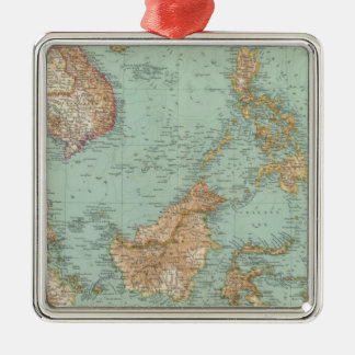 9596 Indocina、シャム、Arcipelago Malese メタルオーナメント