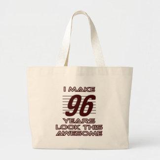 96歳の誕生日のデザインを向くこと ラージトートバッグ