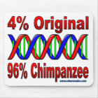 96%のチンパンジー マウスパッド