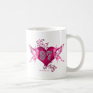97匹の競争数蝶 コーヒーマグカップ