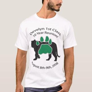 98の10の年の懇親会メンズ緑のDevelynのクラス Tシャツ