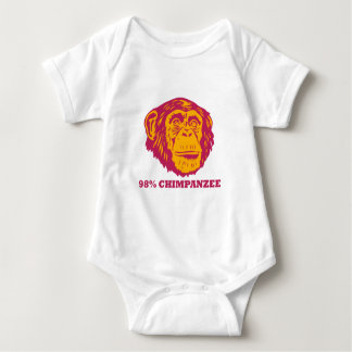 98%のチンパンジー ベビーボディスーツ