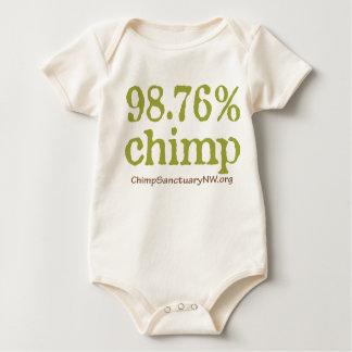 98.76%匹のチンパンジーのロゴのベビーの衣服! ベビーボディスーツ
