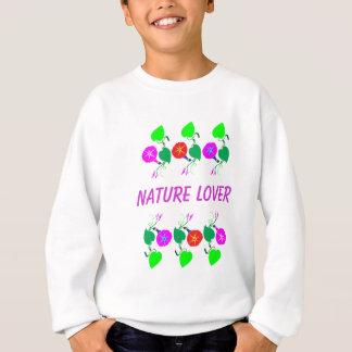 99個のギフト: 自然恋人のガーリーな花のプリント スウェットシャツ