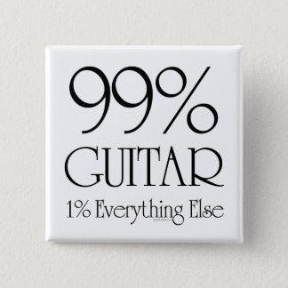 99%のギター 5.1CM 正方形バッジ