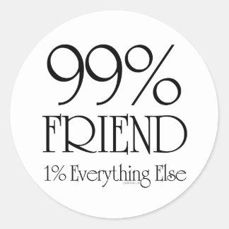 99%の友人 ラウンドシール