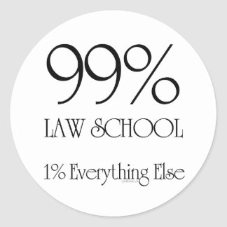 99%の法律学校 ラウンドシール