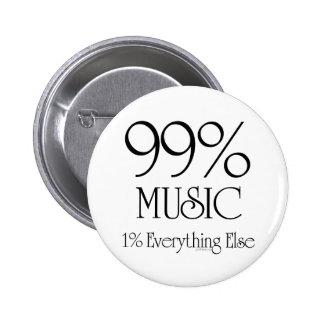 99%音楽 5.7CM 丸型バッジ