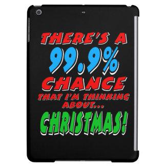 99.9%クリスマス(白い) iPad AIRケース