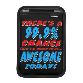 99.9%素晴らしい行くこと(白い) iPad MINIスリーブ