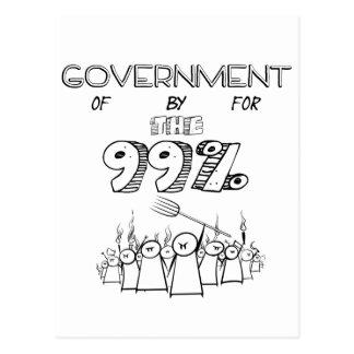 99% occupy wall streetの大衆運動 葉書き
