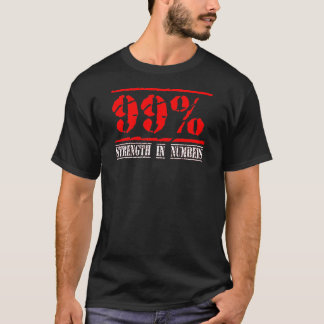 99% - - Occupy wall street数の上での強み Tシャツ