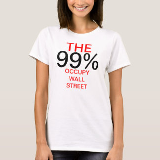 99% OCCUPY WALL STREET Tシャツ