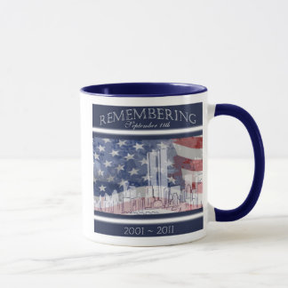 9/11の第10記念日の記憶のマグ マグカップ