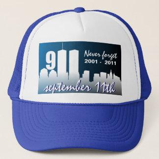 9/11の9月11日-第10記念日のトラック運転手の帽子 キャップ