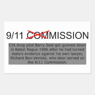 9/11のCIAの代表団 長方形シール