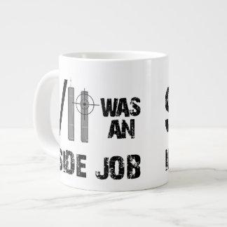 9/11は中仕事でした ジャンボコーヒーマグカップ