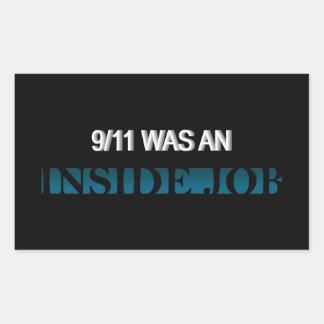 9/11は中仕事でした 長方形シール