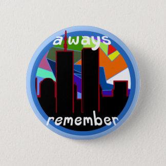 9/11を常に覚えて下さい 5.7CM 丸型バッジ