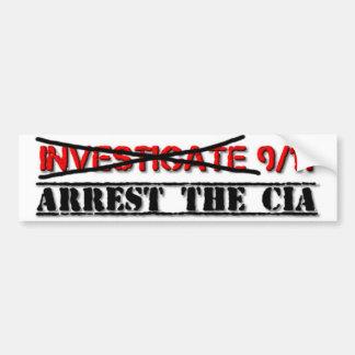 9/11を調査して下さい: CIAを阻止して下さい バンパーステッカー