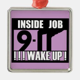 9-11中仕事は- 911真実、trutherを目覚めます メタルオーナメント