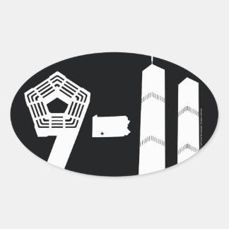 9-11明日クラシック 楕円形シール