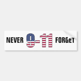 9-11決してバンパーステッカーを忘れないで下さい バンパーステッカー