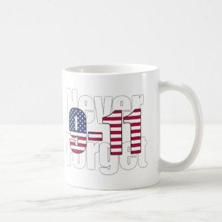 9-11決して忘れないで下さい コーヒーマグカップ