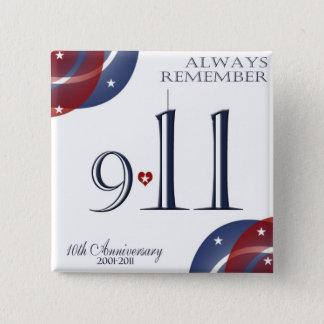 9-11第10記念日の愛国心が強いボタン 缶バッジ
