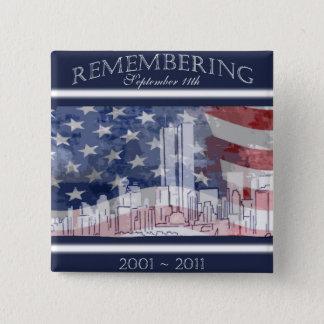 9-11第10記念日の記憶ボタン 缶バッジ