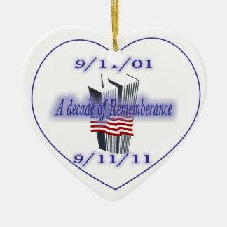 9-11第10記念日の記憶 セラミックオーナメント
