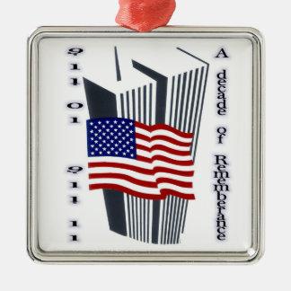 9-11第10記念日の記憶 メタルオーナメント