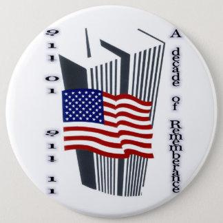 9-11第10記念日の記憶 缶バッジ