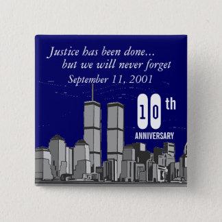 9-11第10記念日 缶バッジ