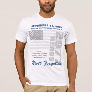 9/11覚えています-倍は味方しました Tシャツ