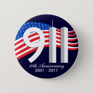 9/11 9月11日第10記念日WTCピン 5.7CM 丸型バッジ