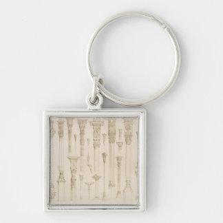 「Aからのペルシャおよびトルコの木のコラムのデザイン、 キーホルダー
