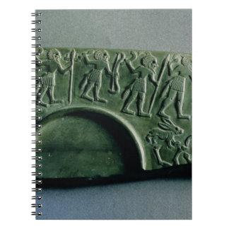 Aからの狩り場面のパレットの片、 ノートブック