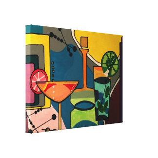 aで絵を描く「世紀半ばモダンなカクテル」の キャンバスプリント