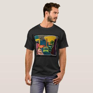 aで絵を描く「世紀半ばモダンなカクテル」の tシャツ