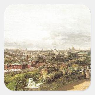 AによるG.I. Chludovの家からのモスクワの眺め スクエアシール