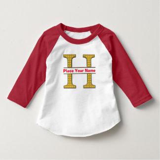 AにZのアルファベットの幼児のアメリカの袖のTシャツ Tシャツ