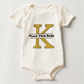 AにZのアルファベットの赤ん坊のアメリカのオーガニックなボディスーツ ベビーボディスーツ