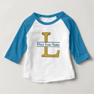AにZのアルファベットの赤ん坊のアメリカの袖のTシャツ ベビーTシャツ