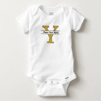 AにZのアルファベットの赤ん坊のガーベラの綿 ベビーワンシー