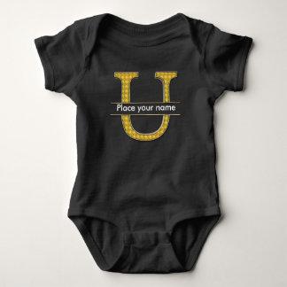 AにZのアルファベットの赤ん坊のジャージーのボディスーツ ベビーボディスーツ