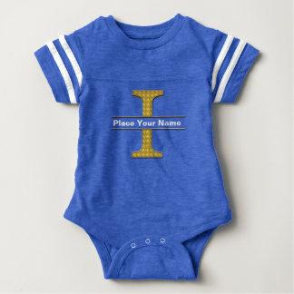 AにZのアルファベットの赤ん坊のフットボールのボディスーツ ベビーボディスーツ